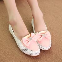 2014 fashion flat heel single shoes women's shoes rhinestone flat women's pointed toe flat bottom single shoes