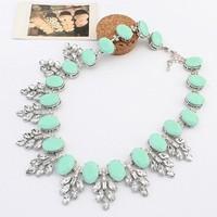 2014 European Fashion Statement Necklace Bohemian Light Blue Beads Choker Jewelry Women Accessories Wholesale Free Ship#105822