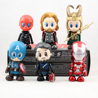 NEW 6PCS AVENGERS ASSEMBLE COSBABY Super Heroes :Iron Man 3 Thor Captain America 2 Action Figure