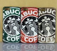 10pcs/lot Retro Vintage Starbucks Hard Plastic Phone Cases For Iphone  5 5S Cellphone Cover Housing