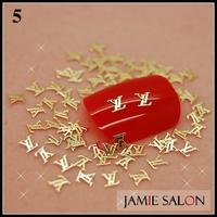 Gold Metal Art Nail Sticker Brand Name Slice Nail Design Gold Nail Decal Metallic Tips 1000pcs/pack Free Shipping #5