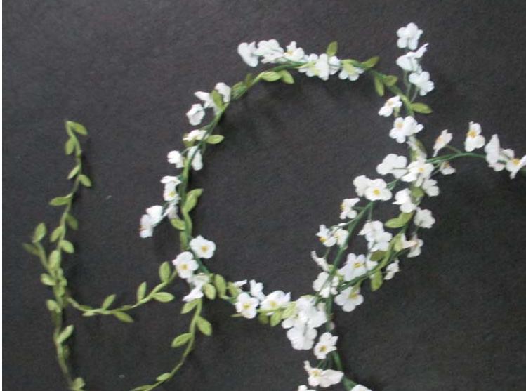 Bridal wreath Garland Cherry wildflower head wreath ornamental design bridal wreath HH10(China (Mainland))