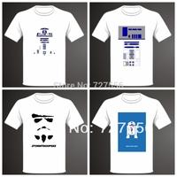 Free Shipping brand t-shirt star wars cotton T-Shirt  star wars men T-Shirt 4 style High Quality
