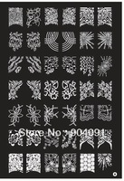 retail A-Z Stamping Nail Art Image Plates Full French stamp Plate Print Nail Art Large BIG Template DIY  Free shipping 21*14.8CM