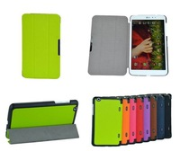 Fashion 3-fold PU Leather Flip Case for LG Tablet GPad G Pad 8.3 V500,with stand,retail and wholesale, 1pc/lot