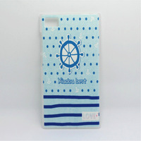 Zx blue navy style millet m2m3 red rice ultra-thin litchi colored drawing relief mobile phone protection case