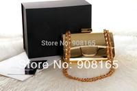 Free Shipping New 2014 Brand Design Gold Plate Women Clutch Bags Luxury Women Bags Fashion handbags