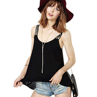Camisole Promotion Solid The New Summer 2014 Women's Dress Fashion Sexy Backless After Before Snow Spins Condole Belt Small Vest