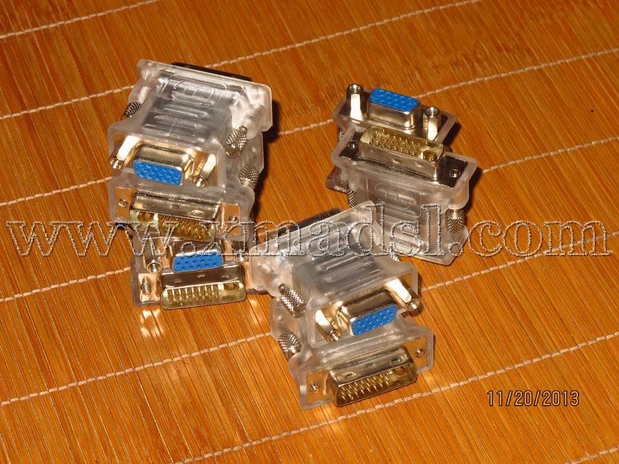 Free shipping Dvi vga adapter dvi 24 5 interface to vga graphics card display crystal(China (Mainland))