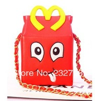 Flower mcdonald 's the box bag shaping bag cartoon fashion women's handbag