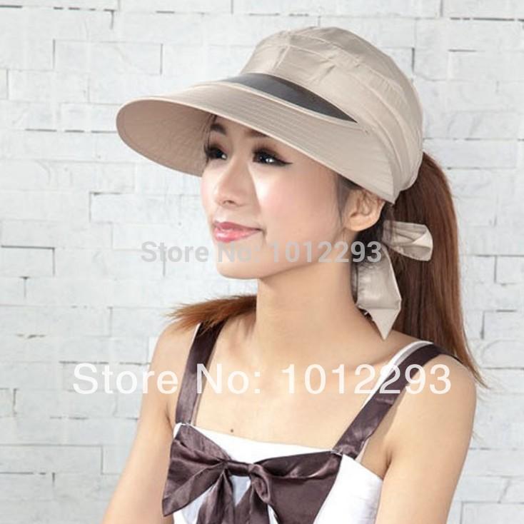 wholesale price 3 pieces 2014 New fashion women wide brim sun visor