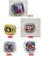 Replica MLB Free shipping 1983 1986 2004 2007 2013 Boston Red Sox Baseball World Championship Ring