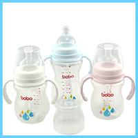 Bobo baby wide-mouth pp straw handle bottle bp338 337 190ml 260ml