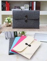 "11.6""13.3""15.4"" Woolen Felt Design Laptop Sleeve Pouch Envelope Notebook Carrying Bag Case For Macbook Air Pro"