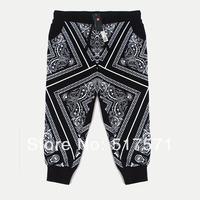Women/men hiphop pants  Bandana Joggers pants west coa s t ktz casual sports cashew flowers pants