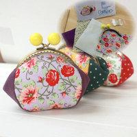 B151 Colorful tonal 10CM Four patch purse frame Kits DIY Bag Handwork coin purse Material 3pcs/lot