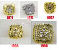 Replica NFL Free shipping 1971 1977 1992 1993 1995 Dallas Cowboys Super Bowl Championship Ring