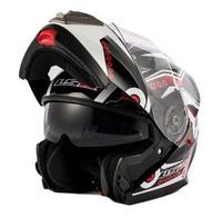2015 new anti-fog double lens LS2 jet racing helmet motorcycle helmet full face helmet men free shipping