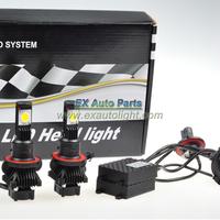 Free Shipping Xenon White 50W H13 9008 CREE High Low Beam LED Headlight Bulbs Kit CXA 1512 3600LM 12V 24V