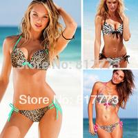 Bikinis Hot Sale Freeshipping Solid Polyester New 2014 Newest Discount Swimsuit Bandeau Swim Bikini Set Swimwear Women Free Ship