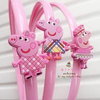 wholesales brand new arrival 20pcs/slot peppa pig cartoon children girl's hair hood hair accessory hair pin clips girls headwear