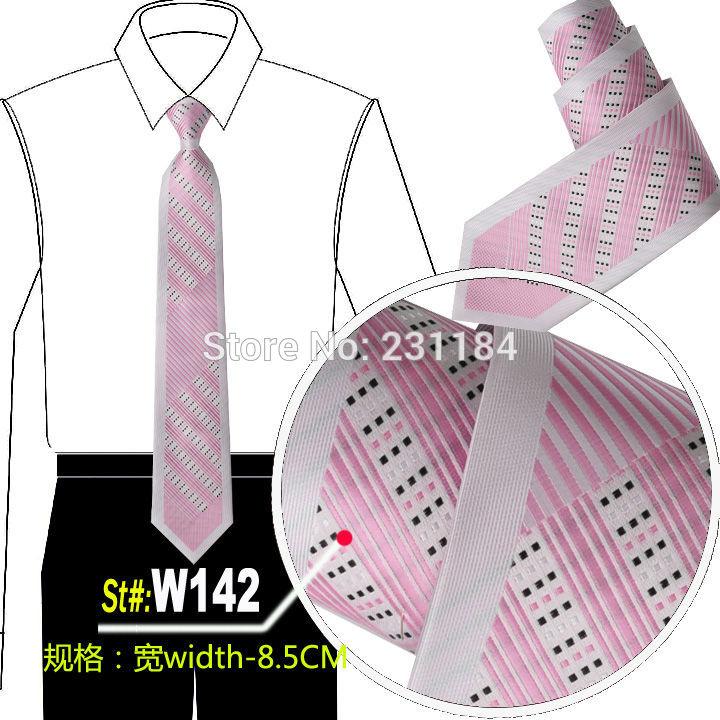 Microfiber men ties novelty mens neck tie pink neckties cravat 199colors for choose fashion ascot floral color w142(China (Mainland))