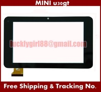 On Sale 7inch Prestigio Touch Screen Digitizer Touch Panel Glass for Cube MINI u30gt Dual Core Capacitive Touch Screen Texet