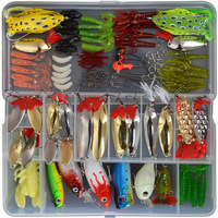 129PCS Fishing Lures Set Mix Poper Crank Minnow Pencil Lures For Fishing With Box Hot Sale Free shipping