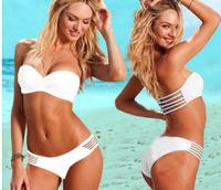 Hot Sale! new 2014 summer fashion Women's swimsuit brand swimwear Sexy Women Bikinis set candy color beachwear Solid h0351