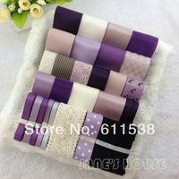 Elegant purple ribbon set diy hair accessory material accessories for diy ribbon set sales