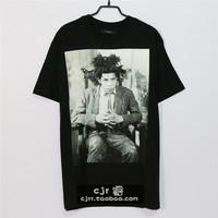 Fashion popular 2014 gvc vintage portrait o-neck short-sleeve T-shirt seamless cylinder