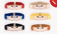 Female colorful bowknot black blue belt gold metal waist women thick cummerbund belts wide cintos femininos thin leather