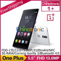 "Original One Plus Oneplus Snapdragon 801 Multi-language Android 4.4 FDD-LTE 5.5""FHD Corning Gorilla3 13.0Mp 3G RAM 1+ In stock"
