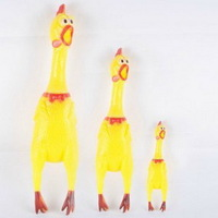 1PCS Free Shipping HOT SALE 17cm Screaming Chicken Pet Product, Puppy Dog Sound Toys, Pet Playmate Dolls AY870089