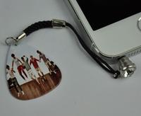 3.5mm 5Pcs Cellphone Earphone DockCover Ear Cap Anti-Dust Plug , One Direction Guitar Pick  Dust Plug 3# Pattern