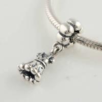 Lw107 diy    female long dresses 925 pure silver bead pendant