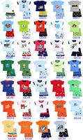 BOYS Sleepwear set Kids Clothes set Tops+Pants baby pajamas set 6sets /lot Free shipping Group2