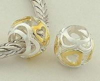Fs041 925 pure silver bead pendant  jewelry  diy accessories love