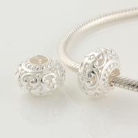 Fj208 925 pure silver bead pendant  jewelry diy  flower