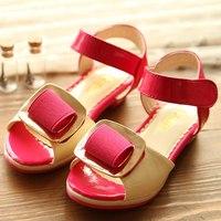 2014  buckle little girls princess high-heeled  open toe shoes child girl's sandals X165