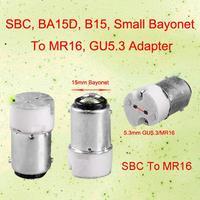 2pcs/lot EB3414 Small Bayonet BA15D To MR16 Bulb Adapter Light Lamp Convertor Holder Socket Base