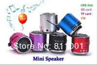 Hot  Sale Portable HIFI Mini  Stereo Speaker MP3  Music  Player Amplifier Micro SD TF  USB Disk Computer Speaker with FM Radio