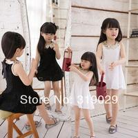 2014 Summer New Girl Lace dress Paillette Mini dress Princess dresses Children's clothing Kids One piece casual clothes