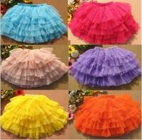 Wholesale New Fashion Little Girl Danceing skirt Performance Layered Baby Girl's skirt girls ball gown skirt CD39