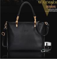 2014 Big European and American handbag the bill of women shoulder slope across cow leather bags handbag