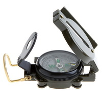 Hot Sale New Arrival 1PC Professional Mini Military Camping Marching Lensatic Compass Magnifier Army Green KC870090