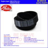 Gates belt: Chery QQ3  0.8L/1.1L  Chery QQ6  0.8L/1.1L Timing component kits: tensioner, timing belt