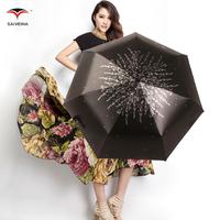 Free shipping Vinyl three- folding saiveina sunscreen sun protection umbrella UV 50 umbrellas