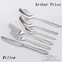 18/8 Stainless steel west tableware arthur price willow 6 piece set dinner knife fork spoon teaspoon table fork table spoon