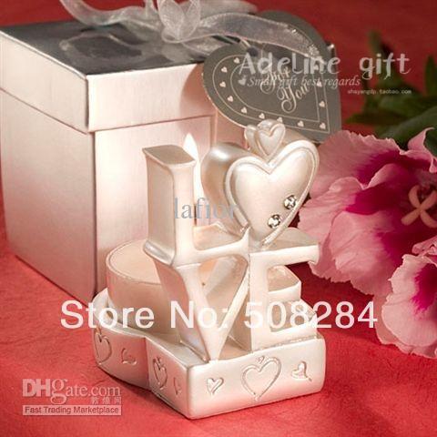 "Wholesale - Hot Candles Favors ""LOVE"" wedding candles wedding favors wedding gifts 10pcs/lot can drop shipping(China (Mainland))"